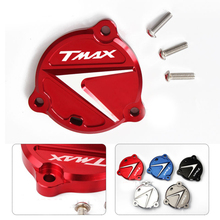 motorbike with TMAX LOGO motorcycle accessories CNC Front Drive Shaft Cover Guard cap For Yamaha Tmax 530 2012 2013 2014 2015