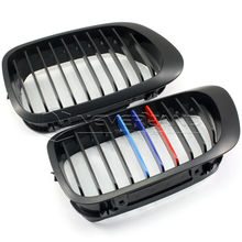2pcs/set ABS Plastic Auto Car Front Kidney Grille Matte Black M Color Racing Grills for BMW E46 3 SERIES 98-01 2 Doors