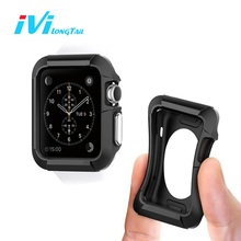 IVI For Apple Watch Series 1 2 38mm 42mm Case Cover Sport Shockproof Silicone Rubber Gel Skin TPU Soft Cases Covers for iWatch