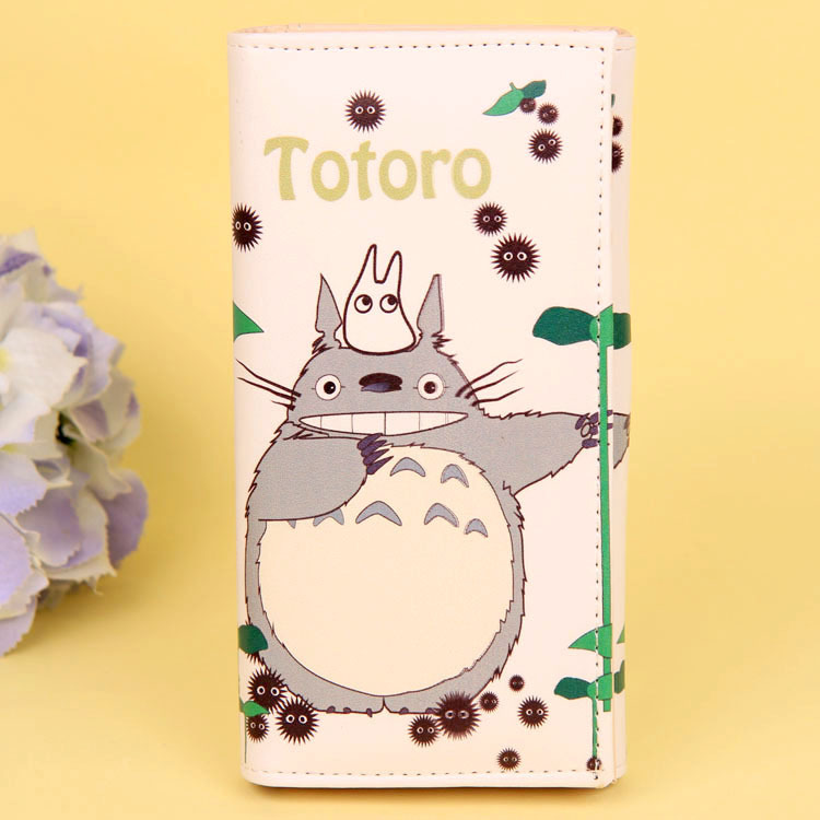 Cartoon My Neighbor Totoro Women Wallets PU Leather Students Wallet Cards Holder Women's Clutch Hasp Coin Purse Money Bags 5