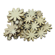 New Year 50pcs Eco-friendly Plum Embelishment Decorative Floral Ornament Wood Craft Christmas Wedding Party Decor Favors