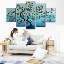 autumn silver rich tree  Art Decoration sitting room Oil Painting On Canvas Wall NEW  100% hand-painted     91815801L