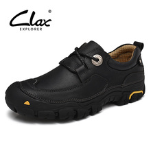 CLAX Mens Ankle Boot Genuine Leather Spring Autumn Casual Boots Outdoor Male Work Shoe Handmade Safety Footwear Walking Shoes