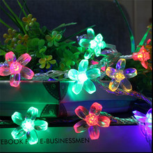 5M 28 LED Christmas String Lights Cherry Blossom Flowers LED Lamps fairy lights for Wedding party Garland Indoor Decoration