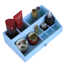 1 Wooden creative home 10 grid table dresser skin care products finishing box cosmetics storage box 28.5 * 17.5 * 9(China)