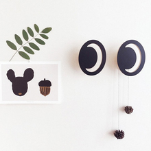 (One Piece)INS Hot Sale Fashion Eyes wooden clothes hook for kids room wall decorate children room ECO friendly hanger hook