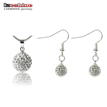 LZESHINE 2016 Big Promotion Jewelry Shamballa Jewelry Set Pendant/ Drop Earrings Women Jewelry Set Wholesale JST0008mix1