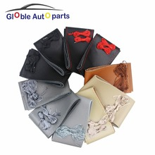 38M DIY Steering Wheel anti-slip Genuine Leather Steering Wheel Cover For Audi BMW Chevrolet Daewoo Leather Braid Accessories