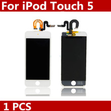 Original New White for Apple iPod Touch 5 5G LCD Touch Digitizer Screen Assembly  free shipping