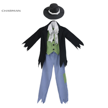 Charmian Boys Cosplay Costumes Victorian Halloween Costume for Kids Fancy Cosplay with Hat Evening Masquerade Party Boy Clothing(China)