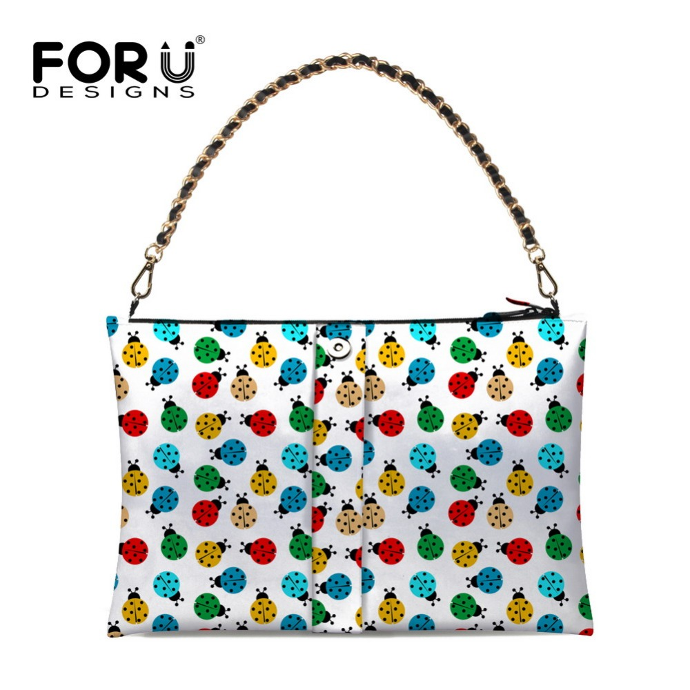 Famous Brand Women Top-handbag Bags Designer Ladybug Print Casual Tote Lady Chain Shoulder Bags Large Tote High Quality<br>