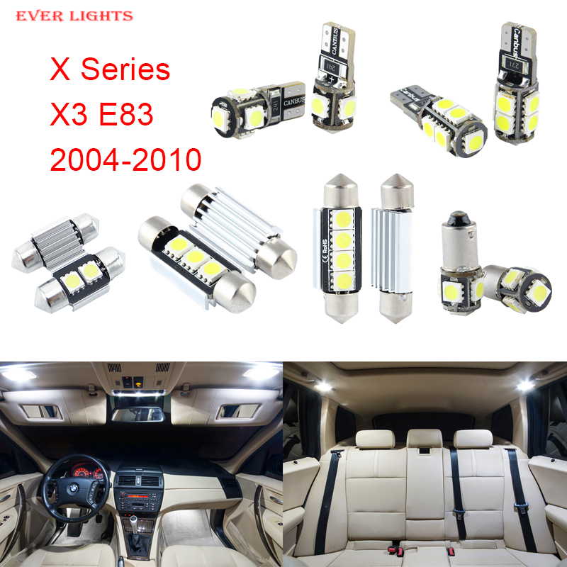 13pcs LED Canbus Interior Lights Kit Package For BMW X Series X3 E83 (2004-2010)<br><br>Aliexpress