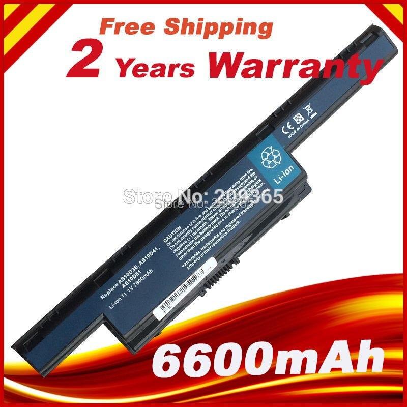 7800mah Battery for Acer Aspire 7741G 5551 5552 5551G 5560 5560G 5733 5733Z 5741G 5741 AS10D31 AS10D51 AS10D61 AS10D71 AS10D75<br><br>Aliexpress