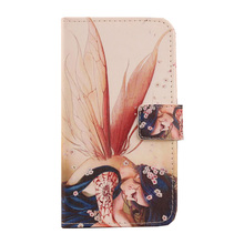 Exyuan  Flip Cell Phone PU Skin Painted Leather Cover For Vkworld G1 Giant 5.5''