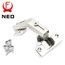 10PCS NED 135 Degree Corner Fold Cabinet Door Hinges 135 Angle Hinge Hardware For Home Kitchen Bathroom Cupboard With Screws(China)