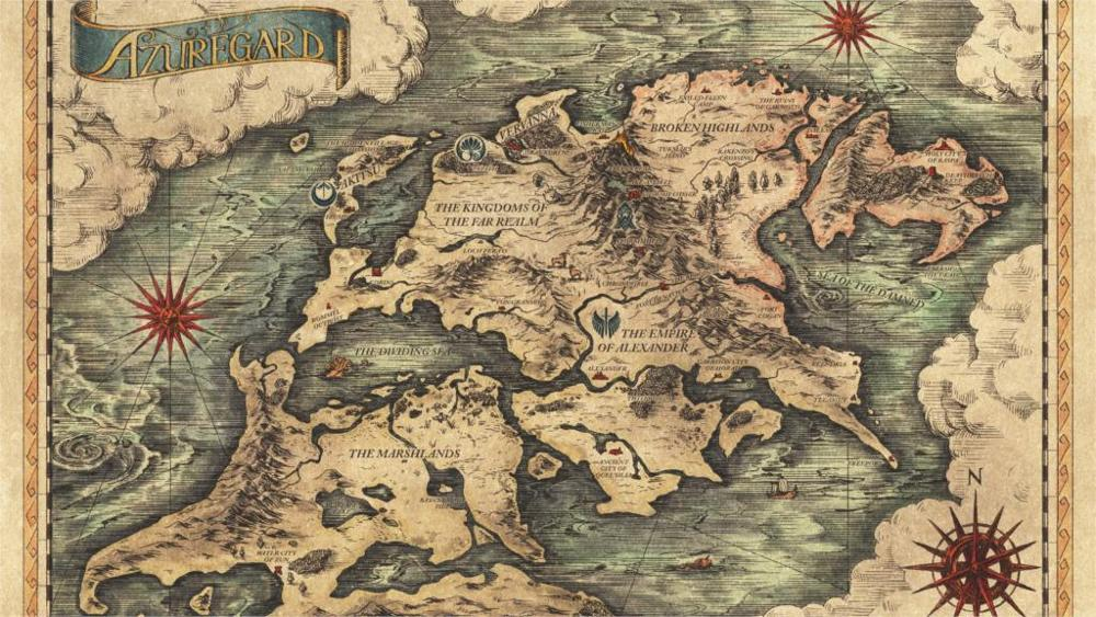 Project Phoenix Fantasy Anime Game Map 4 Sizes Silk Fabric Canvas Poster Print China