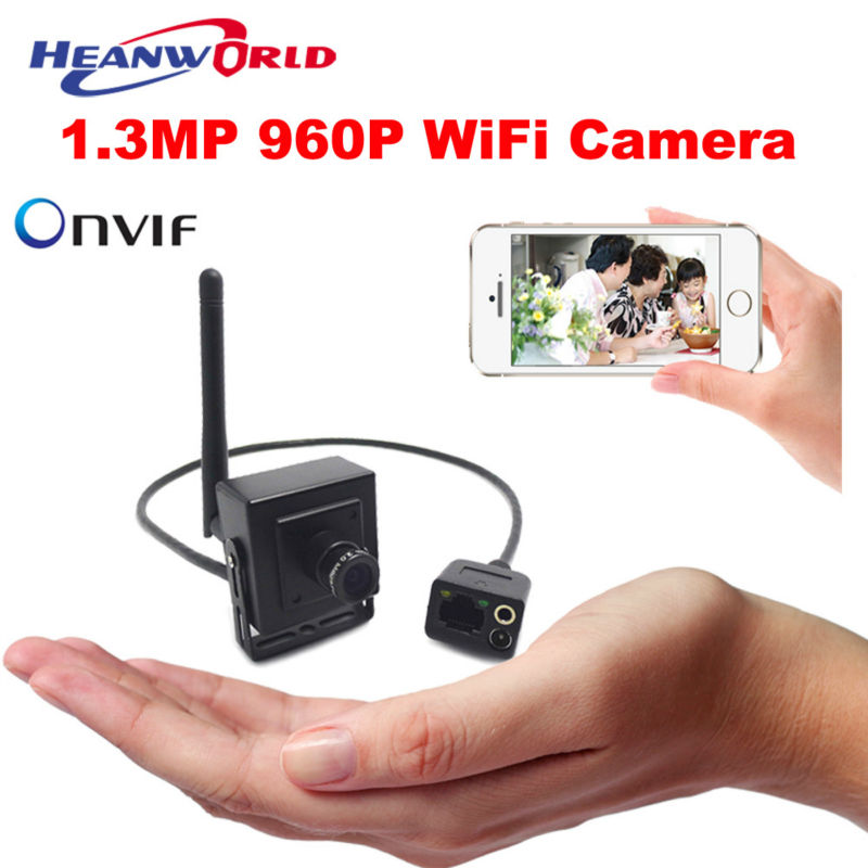 Super Mini WiFi Camera 960P 1.3MP Indoor HD Security Cameras IP ONVIF Wireless CCTV IP Cam Audio Remote Monitoring Email Alarm<br>