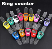 200pcs colorful Electronic Finger Cute Digital Hand Ring Row Counter Golf Digit Stitch Marker LCD Tally Stitch Marker(China)
