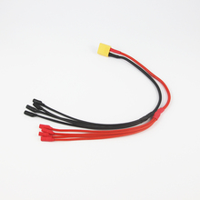 XT60 Power Distribution 4 Pair 3.5mm Banana Connector Parallel Charger Cable Extension Y Splitter for QuadCopter 1-TO-4 20cm