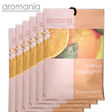 6PCS/lot Aromania Fresh Citrus Delight Orange Scented Sachet Fragrance Drawer Sachet Bag For Bedroom Car Flavor Fragrance Indian
