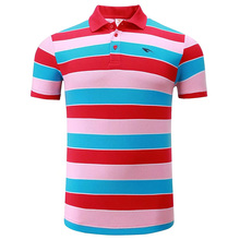 New High Quality Cotton Men Sports Polo Shirt Golf Shirt Clothing Stripes T Shirt Turn-down Collar Breathable Sportswear Clothes(China)