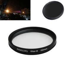 new arrive 52MM 8 Point Star Filter Kit for Canon EF 18-55mm 50mm 85mm Camera Lens free shipping