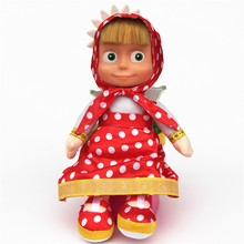 High Quality Russian Masha And Bear Doll Soft Stuffed & Plush Marsha Bear Animals No Battery Reborn Plush  Baby Toys For Girl