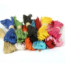 2mm 18m  Mixed Paper Cord String Rope Thread Twine Party Wrapping Tags Hanging For Handmade Gifts DIY Jewelry Craft Making