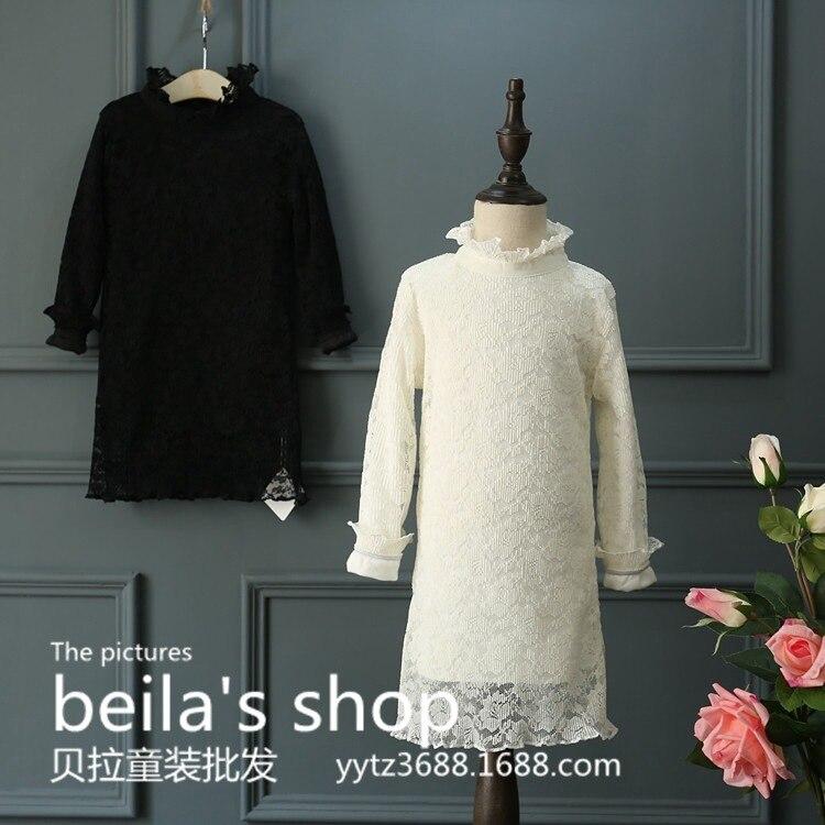 South Koreas new autumn and winter 206 super Korean fan girls super all-match lace dress  bottom Dress Free Shipping<br><br>Aliexpress