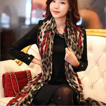 1 pcs Fashion Style Leopard Stylish Long Soft Silk Chiffon Scarf Wrap Shawl Scarves Stole Accessories For Ladies
