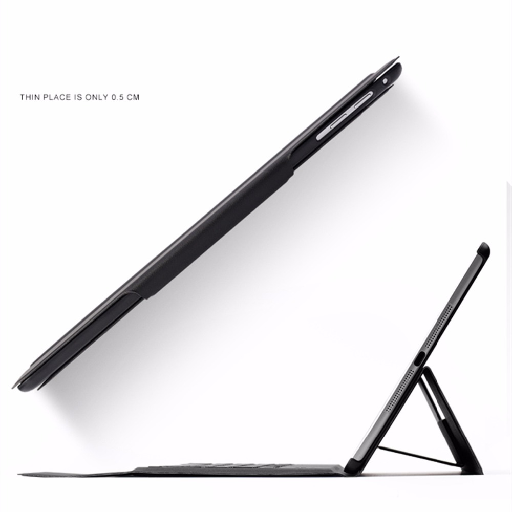 kemile Ultra Slim Bluetooth Keyboard Case For New iPad 2017  Stand PU Leather Cover For Apple 2017 iPad 9.7 (A1822 / A1823)+Gift<br>