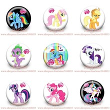 My little ponies Badges Accessories for Sewing Children's party gift brooch Pins bag tin badge button kid garment Decorations