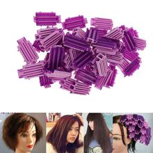 Lot of 50 Reusable Cold Wave Perm Rod Corn Hair Hairdressing Clip Curler Maker Styling DIY Tool for Salon Travel Home