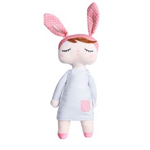 1 Pc New Arrival Cute Dolls Baby Plush Soft Toys Rabbit Animals Package Dreaming Girl Pink Stuffed Toys Sleeping Mate Gifts