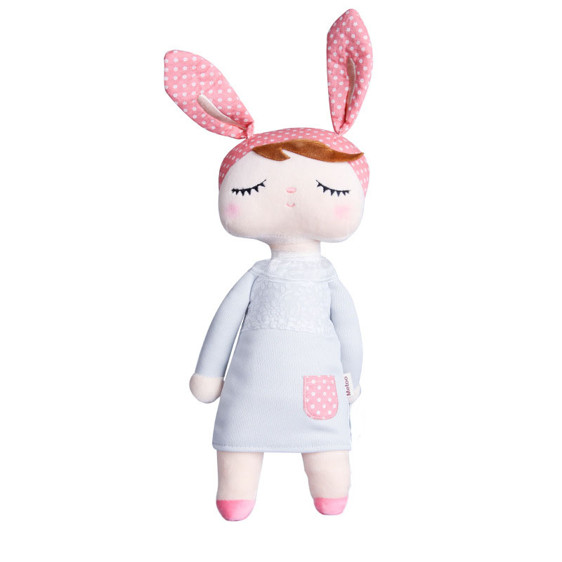 1 Pc New Arrival Cute Dolls Baby Plush Soft Toys Rabbit Animals Package Dreaming Girl Pink Stuffed Toys Sleeping Mate Gifts(China)