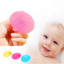 Buy Baby Washing Brushes Child Face Exfoliating SPA Blackhead Facial Cleaning Brush Babies Shower Bathing Silica Gel Pad Accessories for $1.05 in AliExpress store