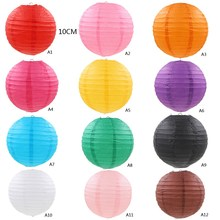 "New 1 PC 10"" 20"" Colorful Chinese Paper Lantern for Home Wedding Party Decoration Festival Home Decor  VBQ54 P30"