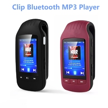 Clip Sport Bluetooth mp3 player 8GB HOTT 1037 Pedometer Bluetooth FM Radio w/TF Card Slot Stereo Music Player 1.8 LCD Screen(China)