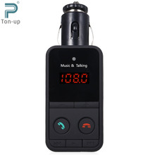 Wireless Bluetooth V3.0 FM Transmitter LED Modulator Handsfree Car Kit MP3 Player USB Charger for Music Phone Remote Controll