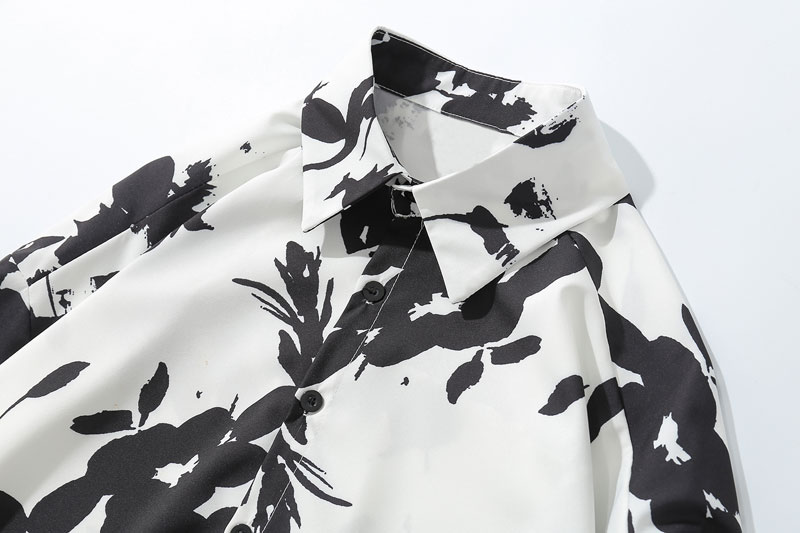 Flower Printed Long Sleeve Shirts 3