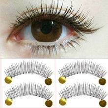 10 Pairs Cotton Eyelash Extension Stalk Long Thick False Eyelashes Makeup Black Fake Eye Lashes