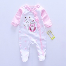 2017 Fashion Baby girl Romper Newborn rompers Baby Boy Girl Romper Long Sleeve Infant Jumpsuits Soft Cotton Baby Clothes Pajamas(China)