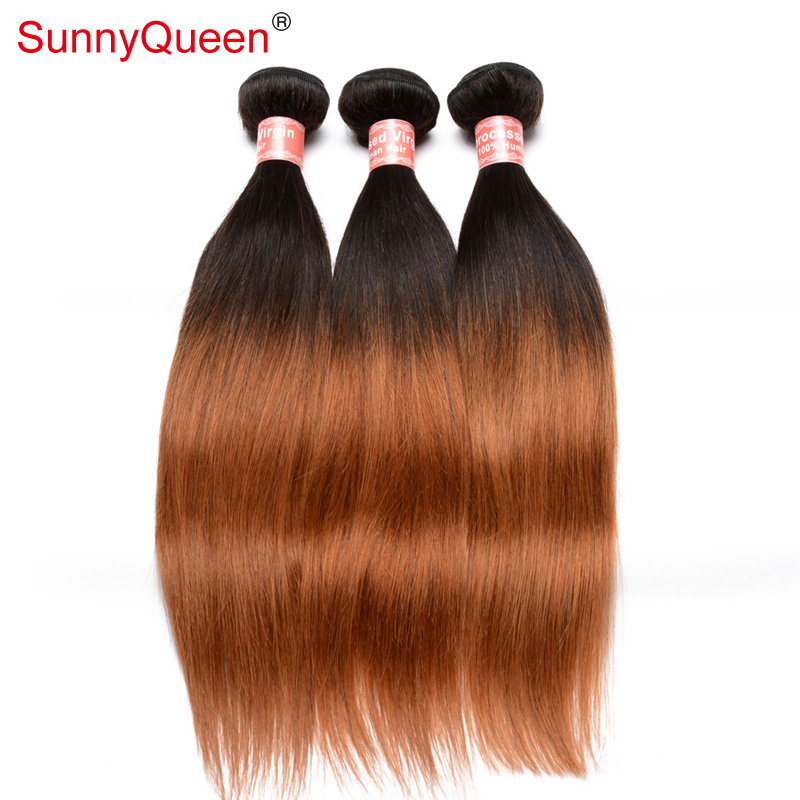 Sunny Queen Hair Products 6A 3 pcs Ombre Hair Extensions 1B 30 Ombre Human Hair Ombre Virgin Hair Ombre Weave for Black Women<br><br>Aliexpress