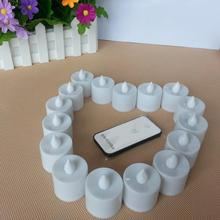 12pcs Electronic LED Candle Flickering Flameless Tea Light Amber Glow With Remote Control for Wedding Party Xmas Decor
