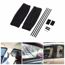 2 x 50s Car Sun Shade Window Curtain Adjustable SunShade Drape Visor Valance Curtain Windshield Foldable Sunshade Car-Styling(China)