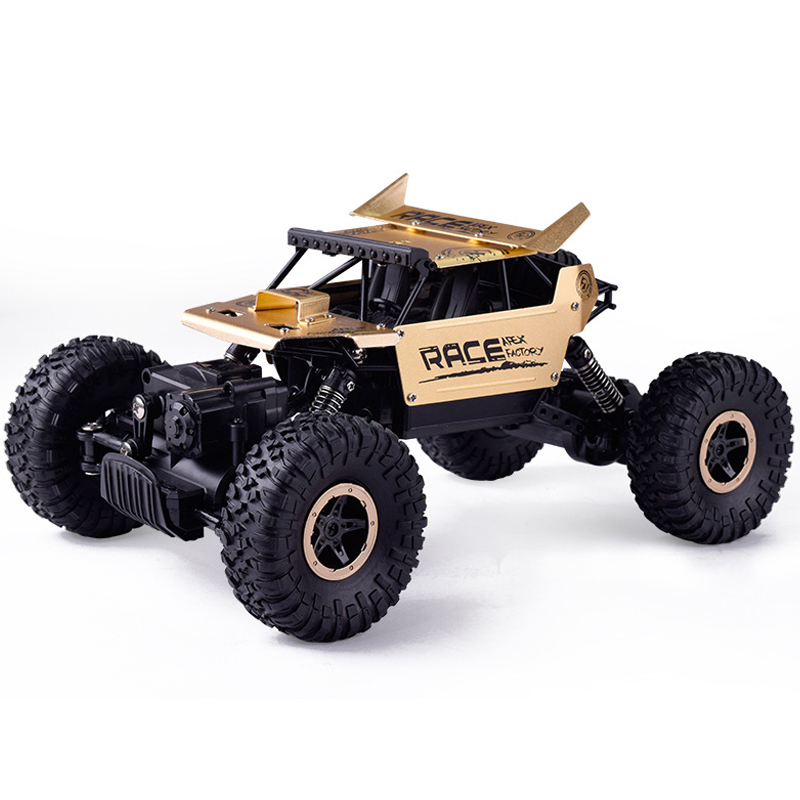 1:16 4WD Golden Alloy High speed RC Cars 2.4G Radio Control RC Cars Kids Toys Buggy High speed Trucks Off-Road Toys Children