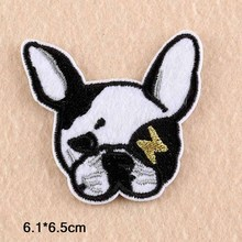 Dog Animal Punk Iron On Patches Clothes Patches For Clothing Boys Embroidered Embroidery Patches Garment Apparel Accessories