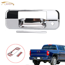 WISENGEAR Rear Chrome Tail Gate Handle Cover Trim Accent For Toyota Tundra Double Cab 2007-2013 With Door Key Hole Styling /(China)