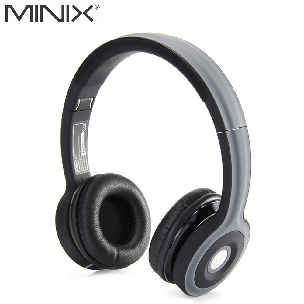 MINIX NT-II NFC Wireless Bluetooth Stereo Headphone Foldable Sports Bluetooth Headset Build-in Mic Earphones for iPhone Xiaomi<br>