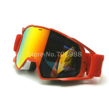 New goggle Tinted UV Stripe Motorcycle goggles Motocross Bike Cross Country Flexible Goggles